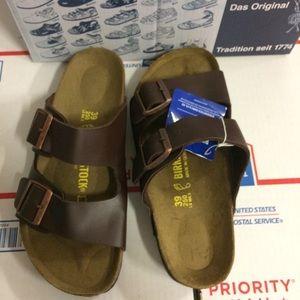 Birkenstock Shoes - Birkenstock Brown Arizona Sandals